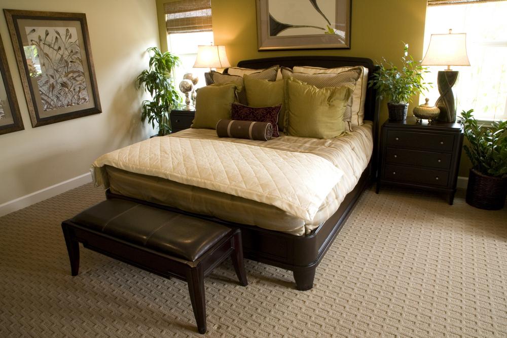 patterned carpet-bedroom
