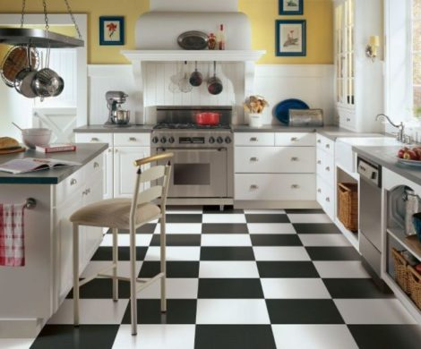 black-white-tile-floor